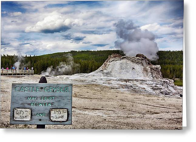 Greeting Card featuring the photograph Castel Geyser In Yellowstone May Erupt by Tatiana Travelways