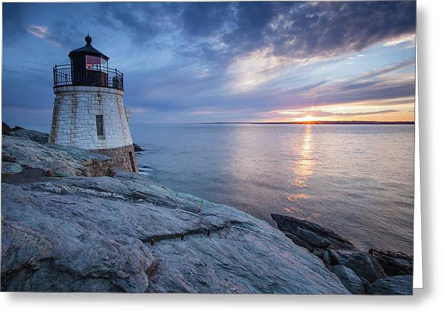 Castle Hill Light Sunset Greeting Card