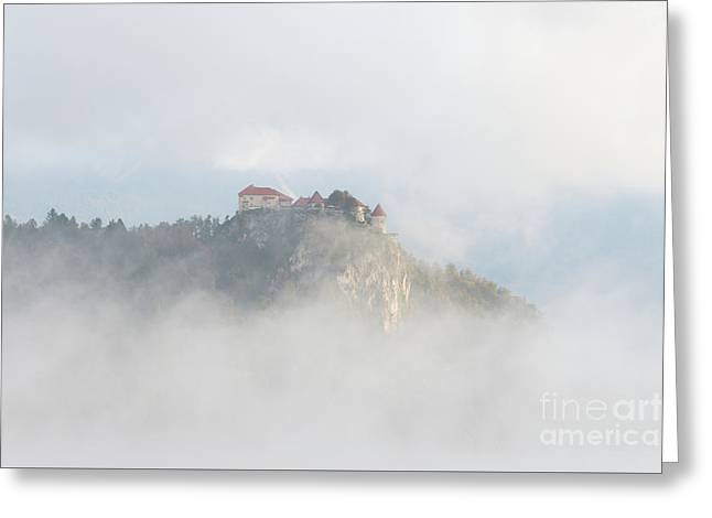 Greeting Card featuring the photograph Castle In The Sky by IPics Photography
