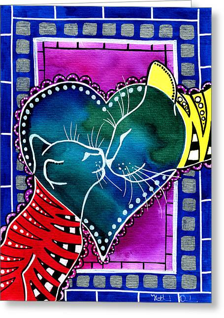 Cat Mom Love Greeting Card