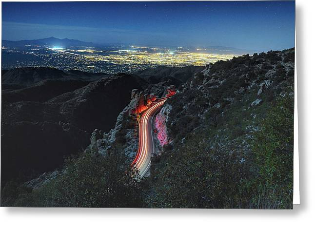Catalina Highway Moonlight Greeting Card