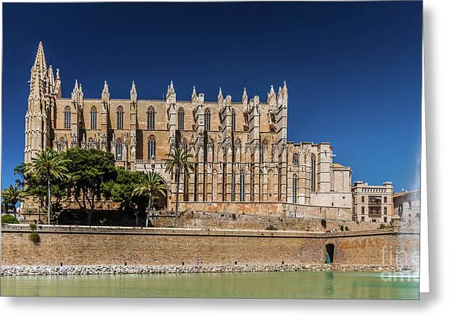 Catedral Basilica De Santa Maria De Mallorca, Spain Greeting Card
