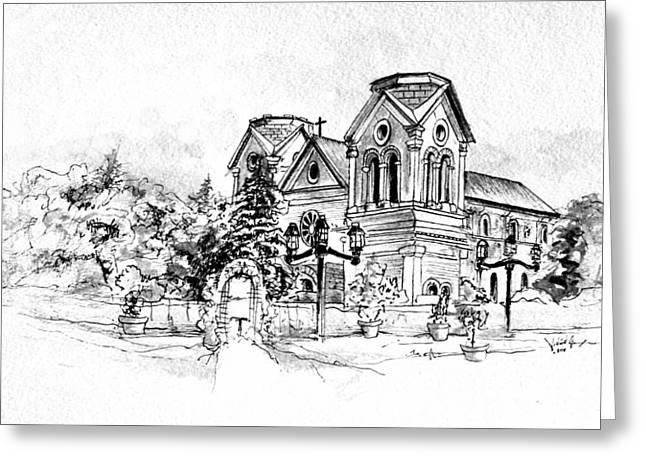 Cathedral Basilica Of St. Francis Of Assisi - Santa Fe, New Mexico Greeting Card