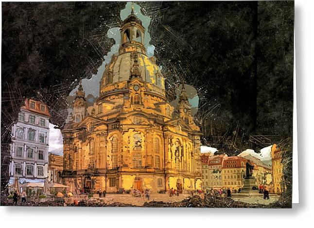 Cathedral, Dresden Greeting Card