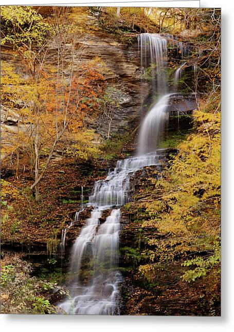Greeting Card featuring the photograph Cathedral Falls by Pete Federico