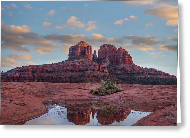 Cathedral Rock Recflection, Coconino Greeting Card