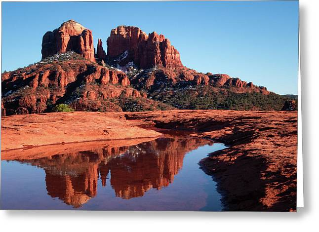 Cathedral Rock Reflection II Greeting Card