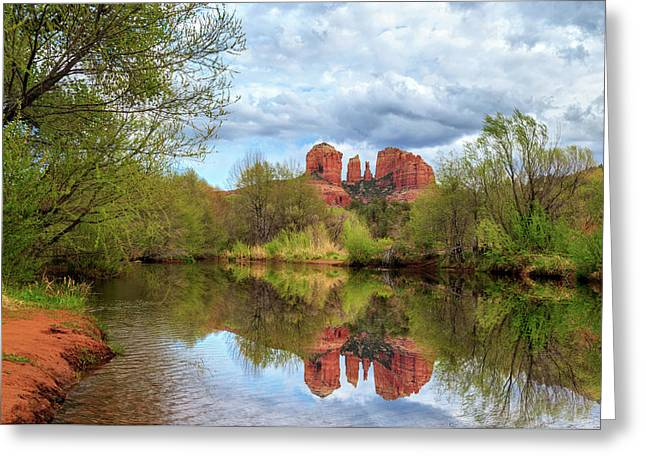 Cathedral Rock Reflection Greeting Card