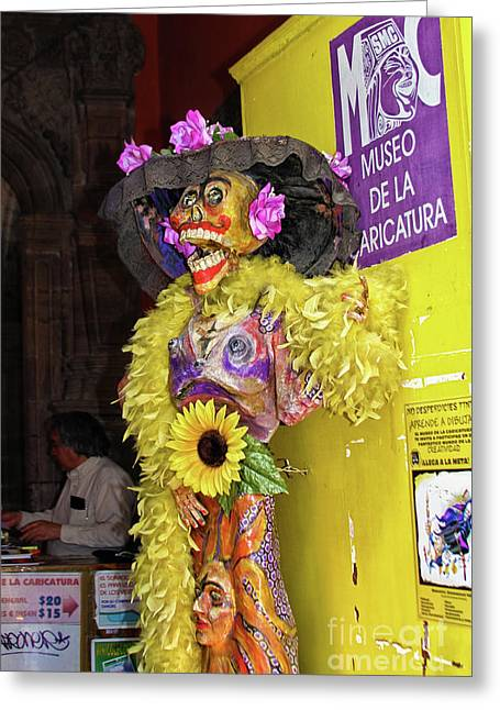 Greeting Card featuring the photograph Catrina - Museo De La Caricatura, Mexico City by Tatiana Travelways