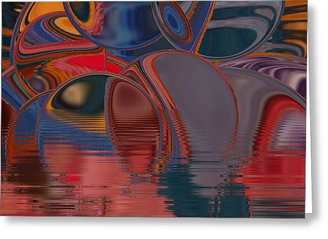 Greeting Card featuring the digital art Cave De Sensation by A zakaria Mami