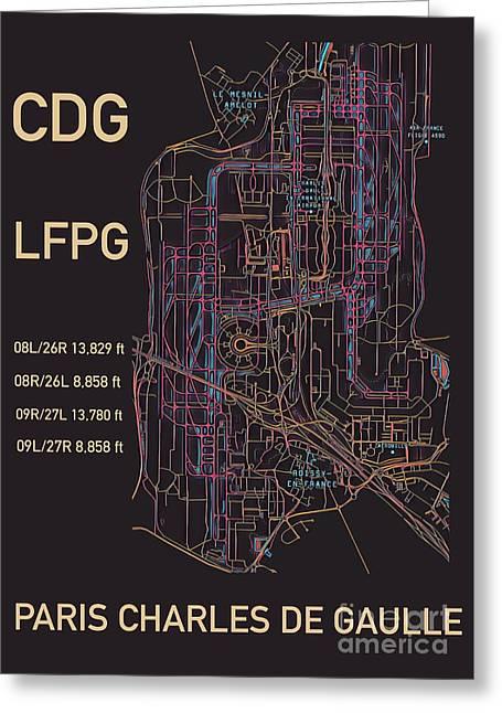 Cdg Paris Airport Greeting Card