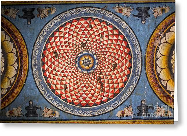 Ceiling Meenakshi Sundareswarar Temple Greeting Card