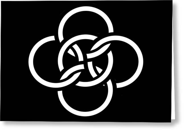 Celtic Five Fold Symbol 2 Greeting Card