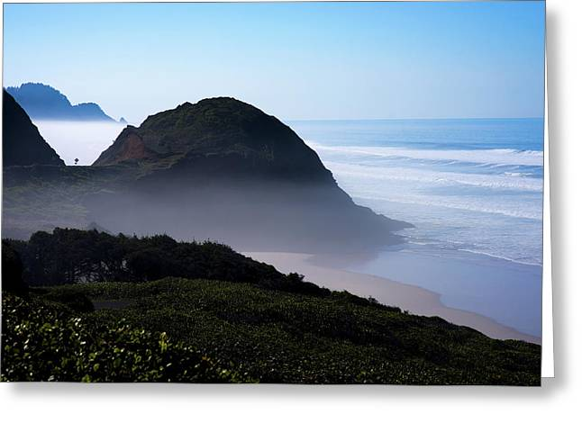 Greeting Card featuring the photograph Central Oregon Coast 101718 by Rospotte Photography
