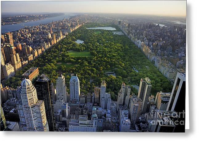 Central Park Aerial View, Manhattan Greeting Card