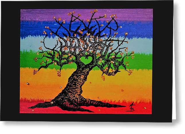 Chakra Love Tree Greeting Card