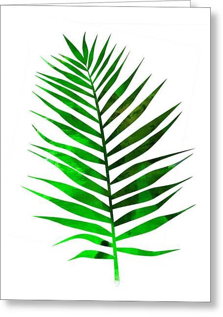 Chamaedorea Leaf Greeting Card