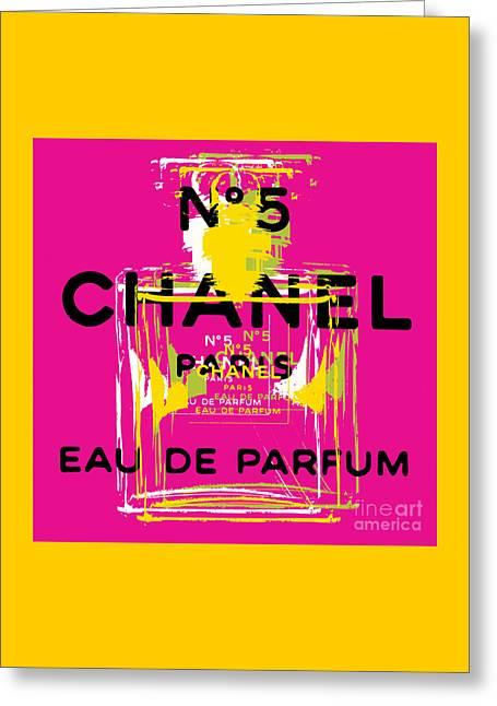 Chanel No 5 Pop Art - #3 Greeting Card