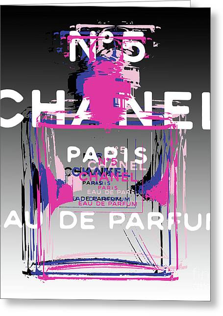 Chanel No 5 - Pop Art Greeting Card