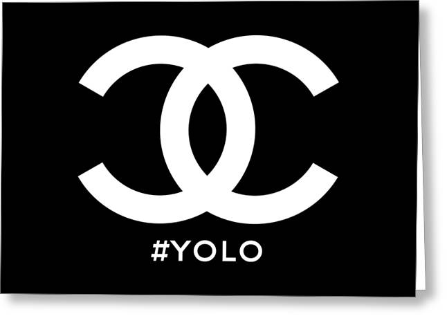 Chanel You Only Live Once Greeting Card