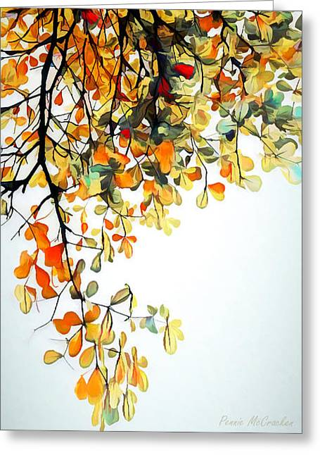 Greeting Card featuring the digital art Change Of Season by Pennie McCracken