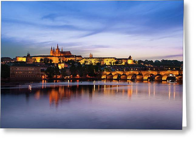 Greeting Card featuring the photograph Charles Bridge by Milan Ljubisavljevic