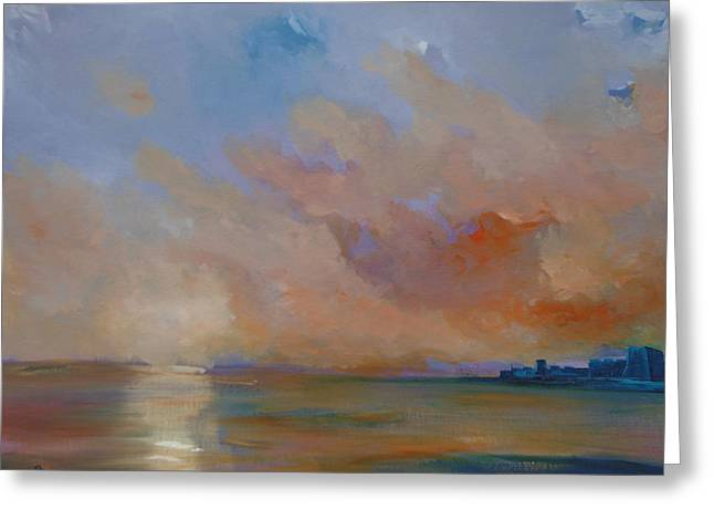 Charles Fort Kinsale Below A Painted Sky Greeting Card by Conor Murphy