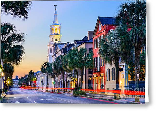 Charleston, South Carolina, Usa Greeting Card