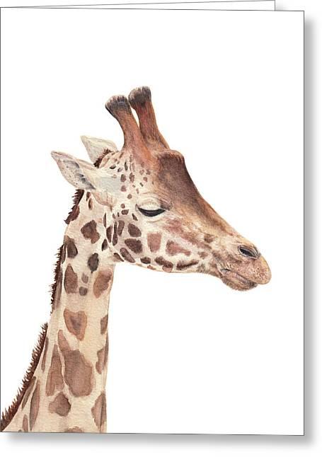Charlie The Giraffe Greeting Card