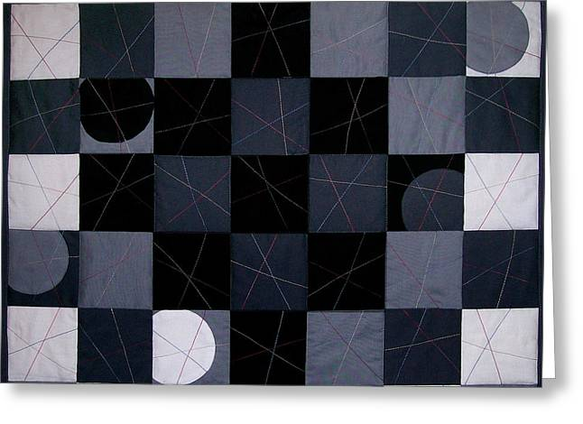 Checkerboard And Pick-up-sticks Greeting Card