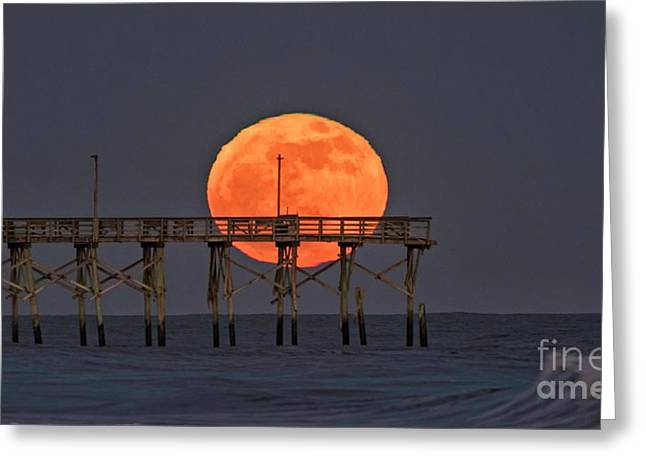 Greeting Card featuring the photograph Cheddar Moon by DJA Images