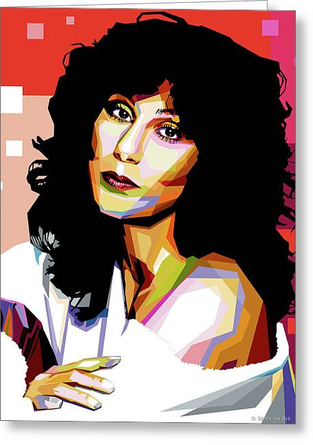 Cher Greeting Card