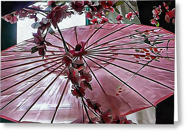 Greeting Card featuring the photograph Cherry Blossom Dreams by Dorothy Berry-Lound