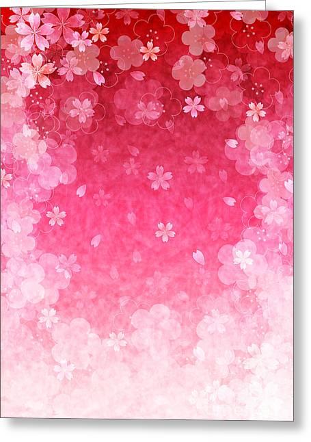 Cherry Plum Greeting Cards Greeting Card by Jboy