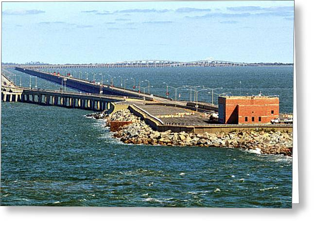 Greeting Card featuring the photograph Chesapeake Bay Bridge Tunnel E S V A by Bill Swartwout Fine Art Photography