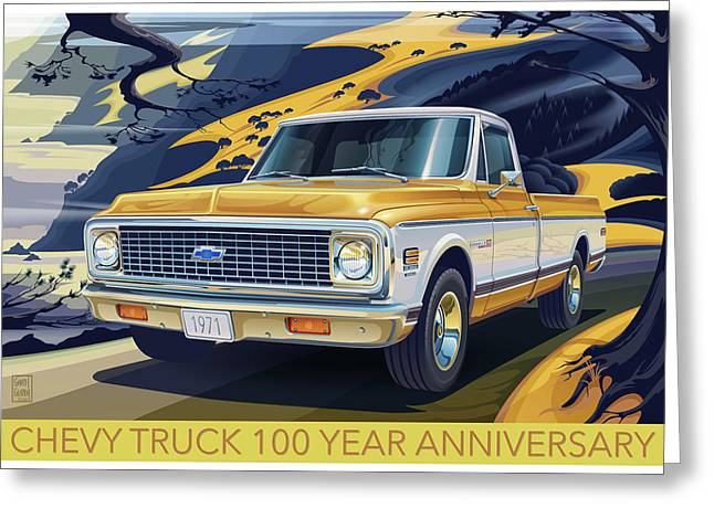 Chevrolet Centennial1971 C10 Cheyenne Fleetside Greeting Card