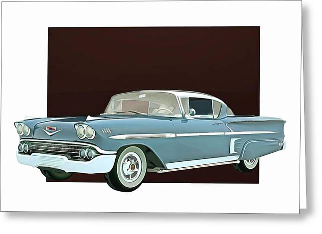 Greeting Card featuring the digital art Chevrolet Impala Special Edition by Jan Keteleer