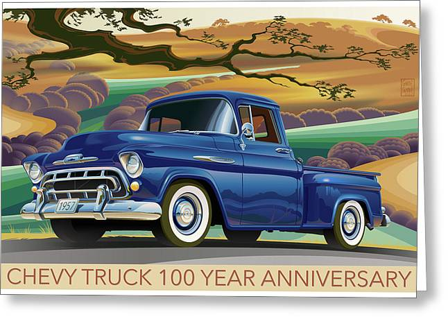 Chevy Truck Centennial 3100 Greeting Card