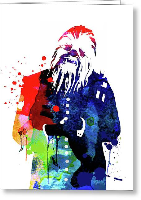 Chewbacca In A Suite Watercolor Greeting Card