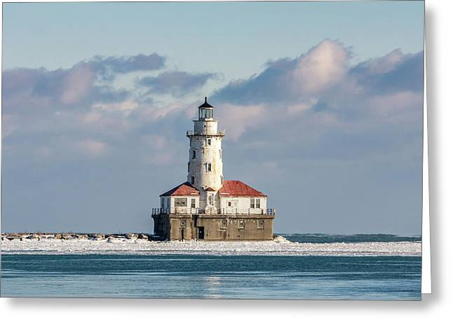 Chicago Harbour Light Greeting Card
