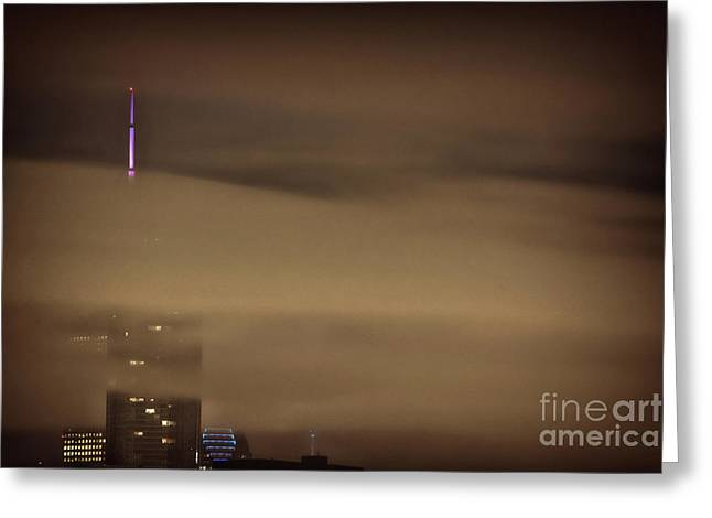 Chicago In Fog Greeting Card