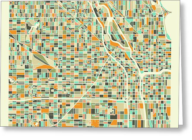 Chicago Map 1 Greeting Card