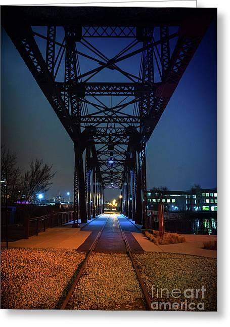 Chicago Railroad Bridge Greeting Card