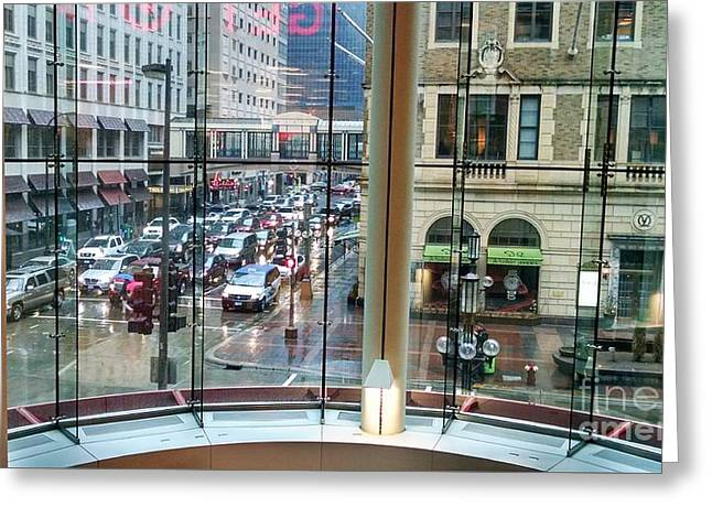 Greeting Card featuring the photograph Chicago Streets by Rosanne Licciardi