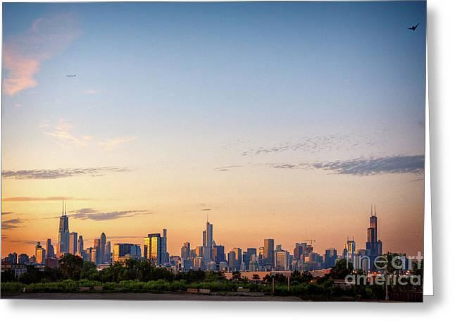 Chicago Sunrise Greeting Card