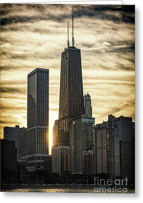 Chicago Sunset Greeting Card
