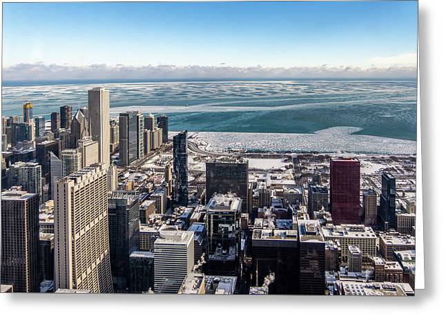 Chicago View Angled Greeting Card