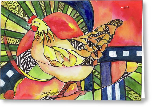 Chicken Red Greeting Card