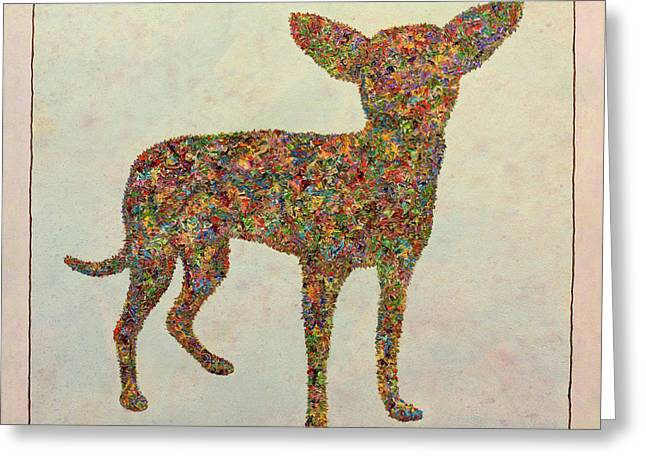 Chihuahua-shape Greeting Card