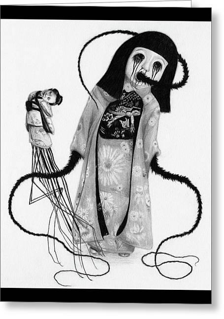 Chikako The Doll Girl Of Kanagawa - Artwork Greeting Card